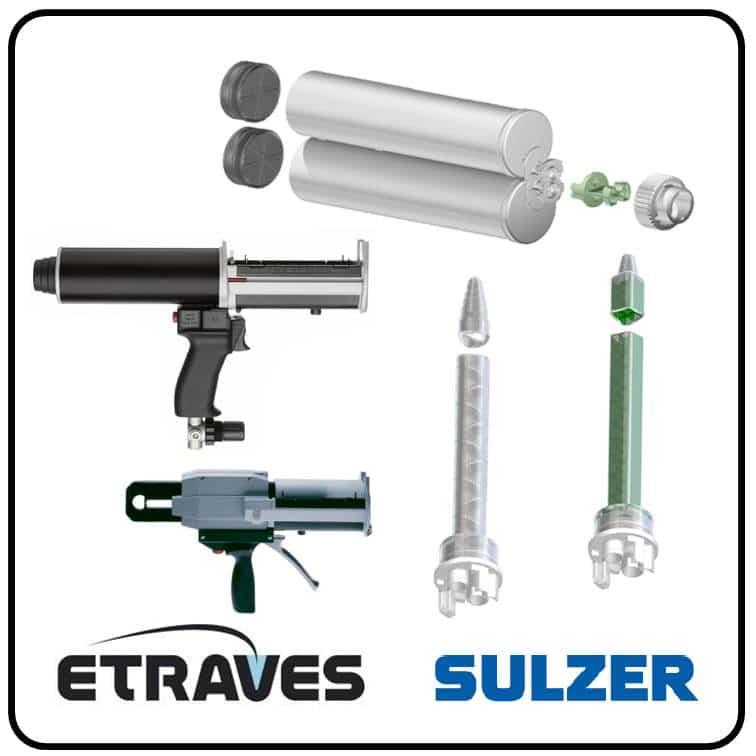 Sulzer - Pistolet colle bi composant